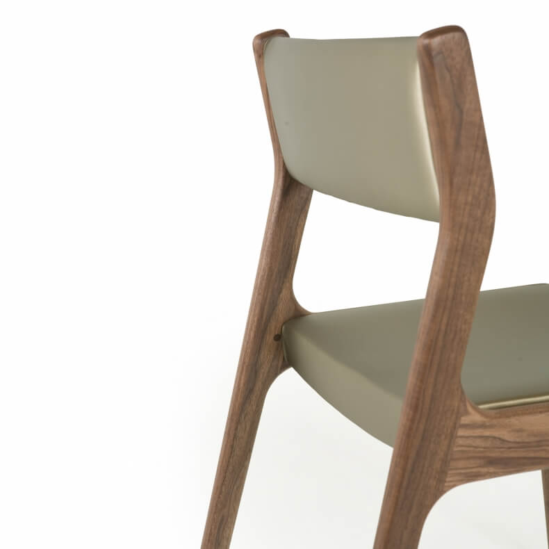 Deer Chair by Autoban in walnut and with leather