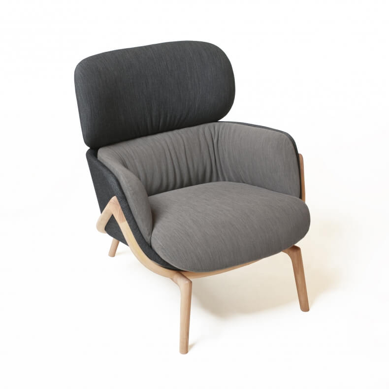 Elysia Lounge Chair door Luca Nichetto in essenhout
