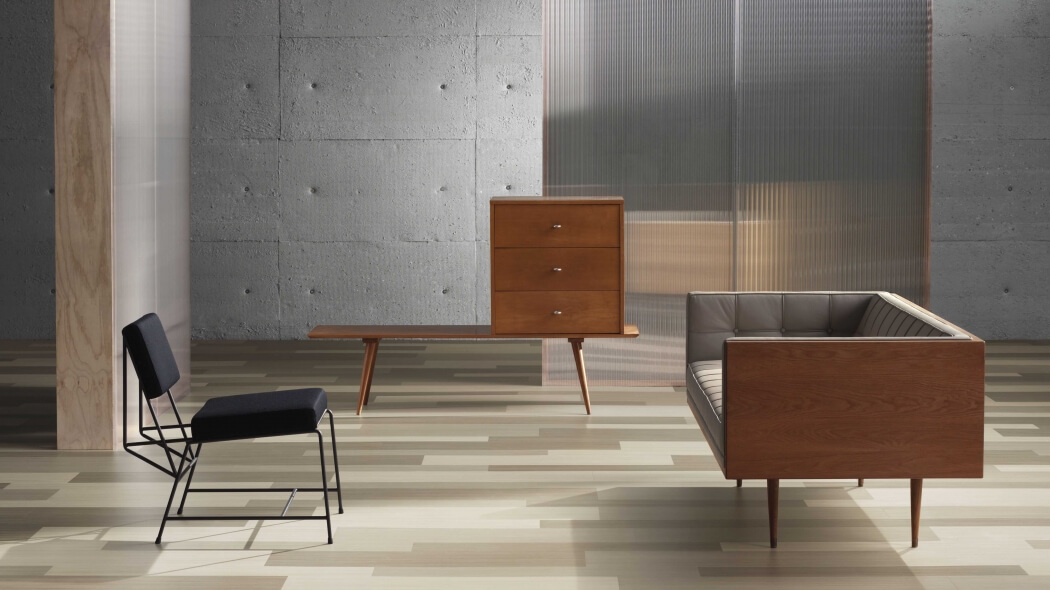 Box Sofa by Autoban in oak and leather via Suite Wood