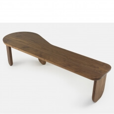 Kim Bench by Luca Nichetto in walnut
