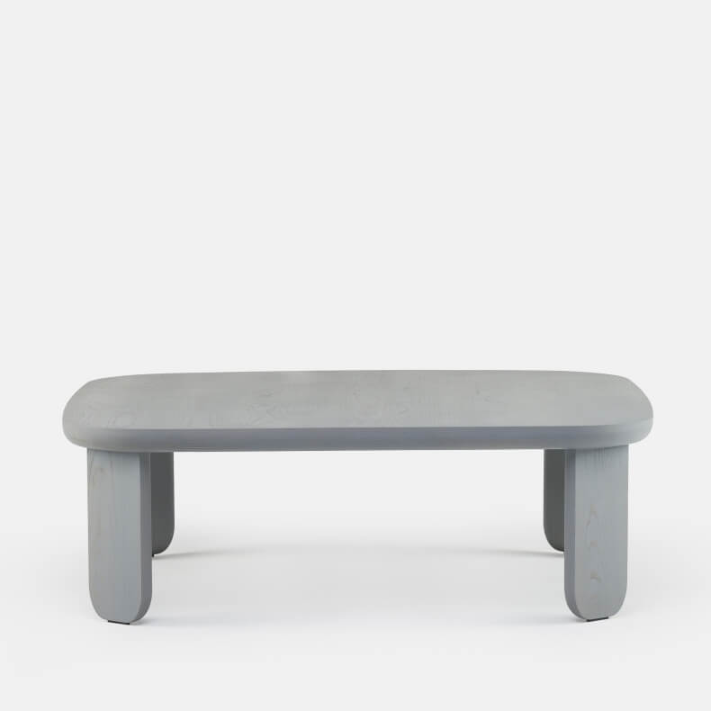 Kim Coffee Table by Luca Nichetto in grey stained ash
