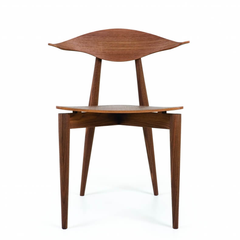 Manta Dining Chair in walnut designed by Matthew Hilton and manufactured by De La Espada
