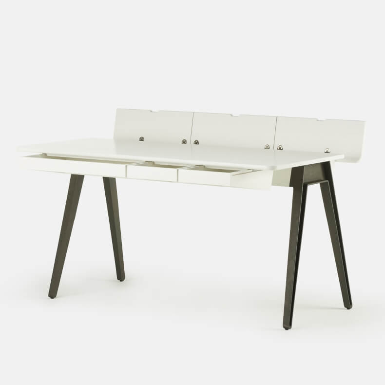 Matthew Hilton Orson Desk in white painted ash
