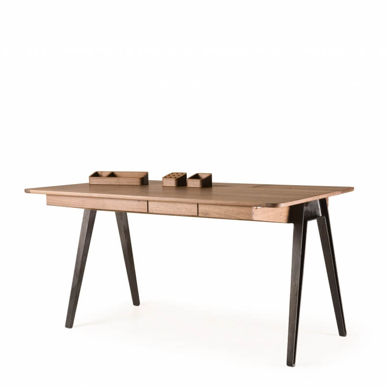 Large Storage Tray for Orson Desk by Matthew Hilton in walnut