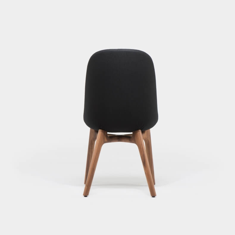 Solo Dining Chair by Neri&Hu in walnut and wool