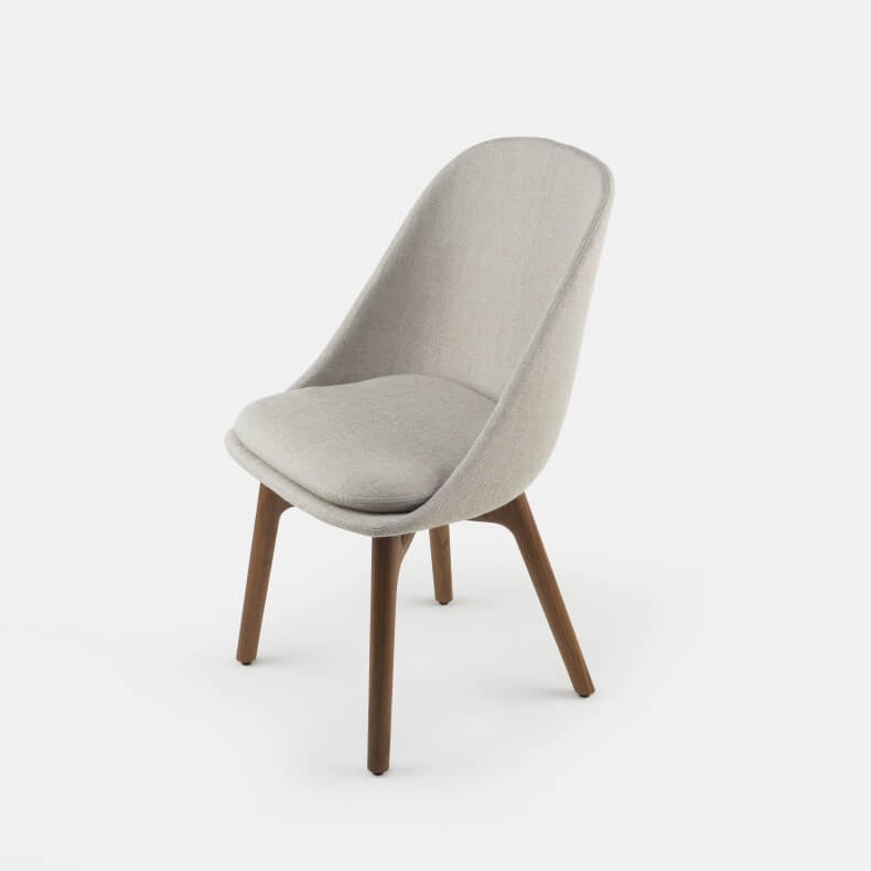 Solo Dining Chair by Neri&Hu in walnut and Sunniva 2 717