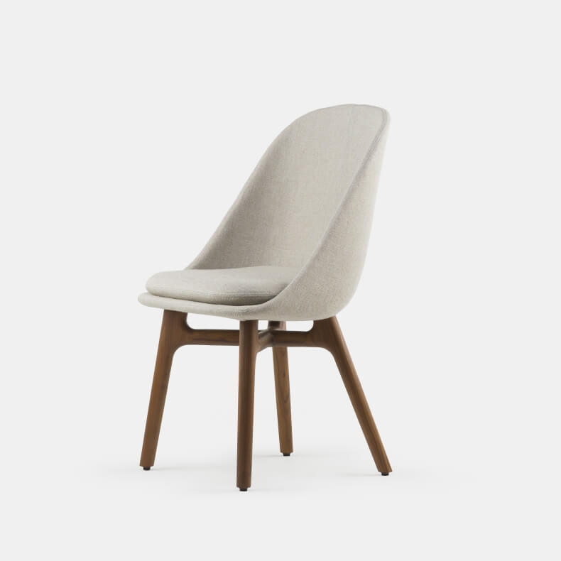Solo Dining Chair door Neri&Hu in walnotenhout en Sunniva 2 717