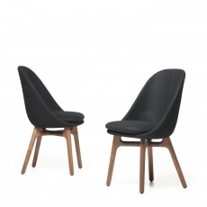 Solo Dining Chair door Neri&Hu in walnotenhout en wol