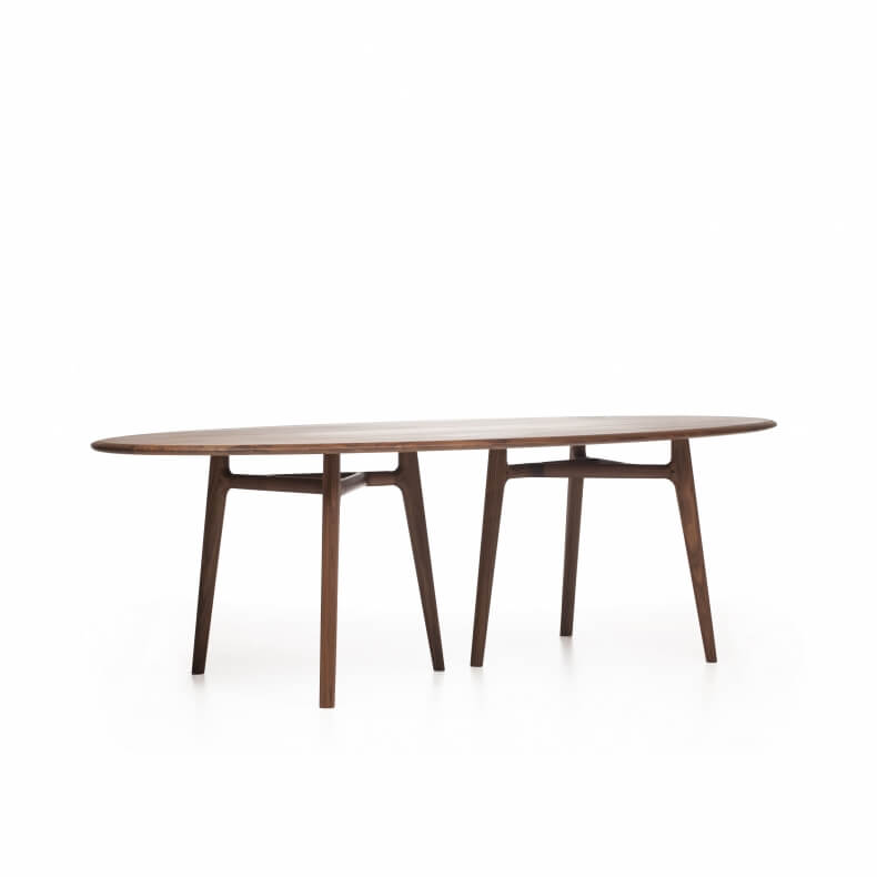 SOLO DINING TABLE SHOWN IN DANISH OILED WALNUT