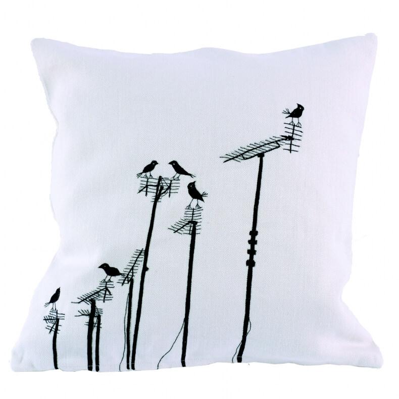 Charlene Mullen Cushion Sparrows on Aerials