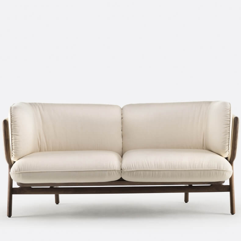 Stanley 2-Seater Sofa by Luca Nichetto in walnut