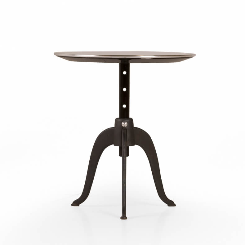 Sidekicks Height Adjustable Table door Studioilse in gietijzer en zwart gebeitst berkenhout