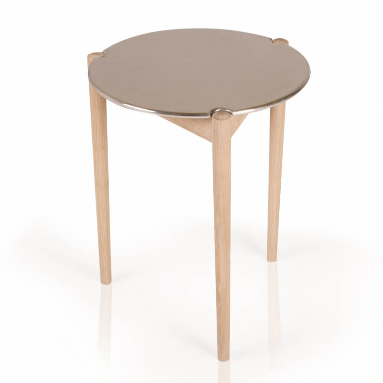 Sidekicks Occasional Table in wit geolied eikenhout