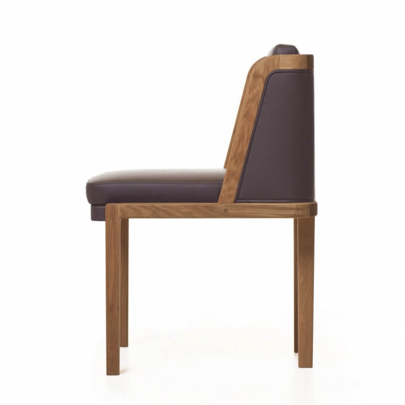 Throne Dining Chair door Autoban in walnotenhout en leer