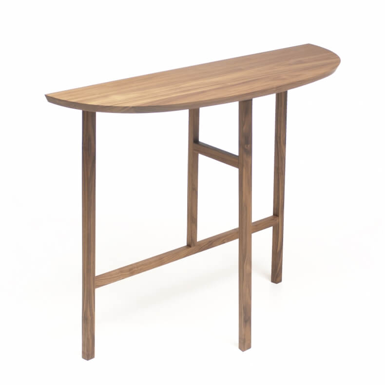 TRIO CONSOLE TABLE SHOWN IN WALNUT